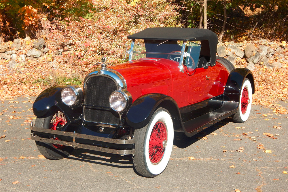 Among the notable prewar classics crossing the block at the Barrett-Jackson Northeast Auction is a '24 Marmon Model 34B Roadster (Lot #694) in factory-new condition. (Photo: Business Wire)