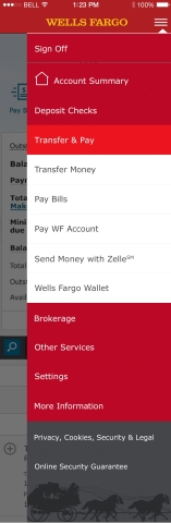 The screen shot depicts the Zelle experience that will go live in Wells Fargo's mobile app on June 24. (Graphic: Business Wire)