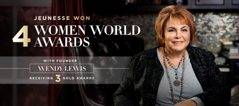 Jeunesse® and Founder Wendy Lewis Garner Gold in Women World Awards®. (Photo: Business Wire)