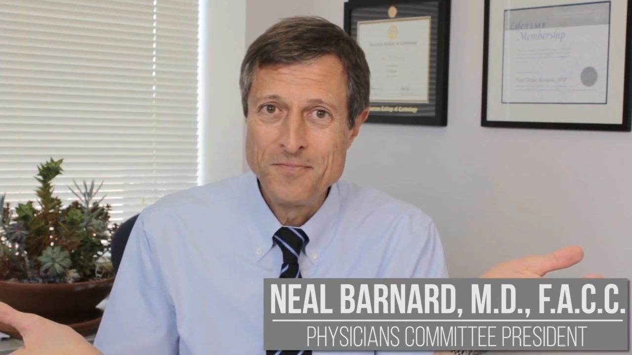 Study analysis with Neal Barnard, M.D., F.A.C.C.
