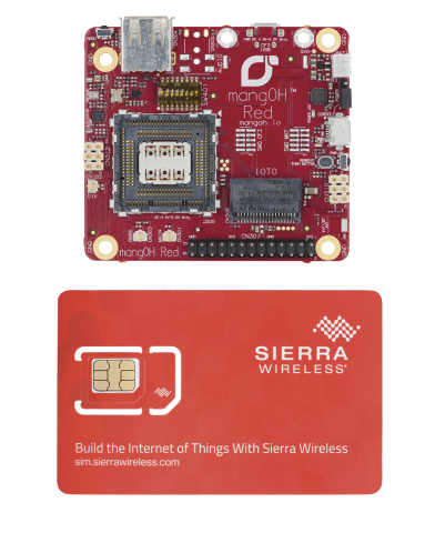 Smaller than a credit card, the mangOH Red open source hardware platform includes all of the buildin ...