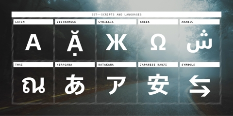 The SST typeface supports nearly 100 languages and offers a series of highly legible and clean tone designs, making it one of the most widely accessible and useable typefaces available. (Graphic: Business Wire)