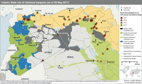 Islamic State use of chemical weapons (as of 29 May 2017)  (Graphic: Business Wire)