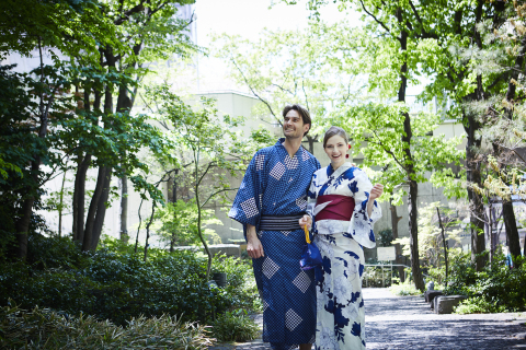 "Starting June 13th, Keio Plaza Hotel Tokyo will allow guests to experience the comfort and style of wearing ""yukata"", Japan's casual kimono, for a day. (Photo: Business Wire)"