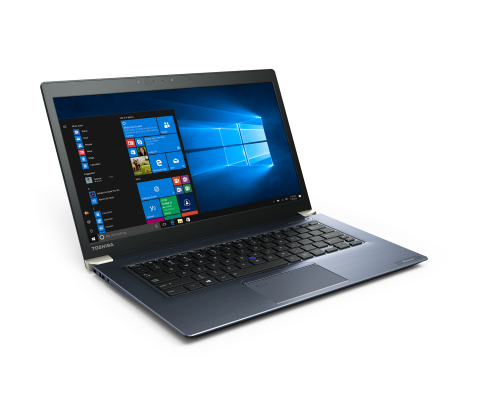 The 14-inch Tecra X40 checks in at 16.9 mm thin and 2.76 pounds and rivals the dimensions of many 13-inch laptops. (Photo: Business Wire)