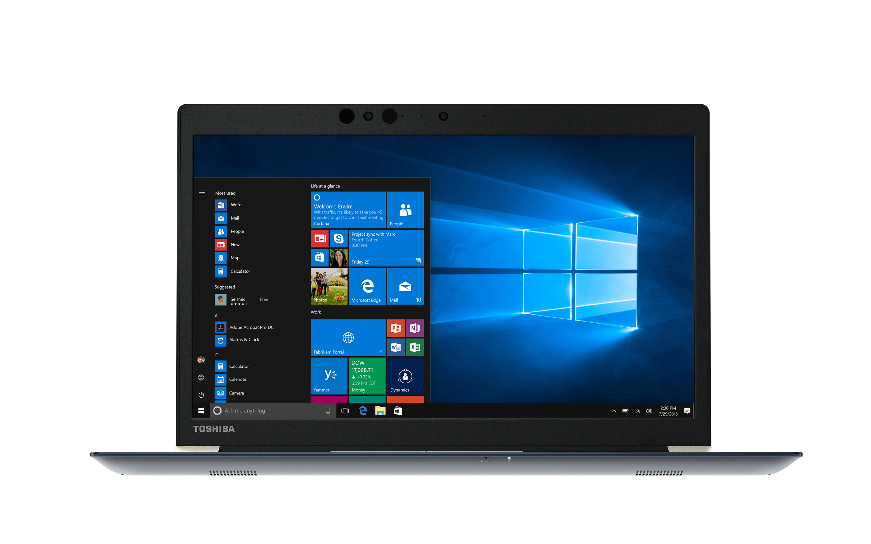 The Tecra X40 delivers Full HD (1920 x 1080) multi-touch wide viewing angle displays, Intel® 802.11ac Wi-Fi®, solid state drives and batteries with extended life ratings of up to 13 hours. (Photo: Business Wire)