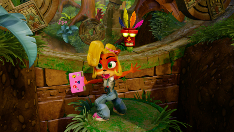 For the first time, Crash's smart and spirited little sister, Coco, will be playable throughout Crash Bandicoot™ N. Sane Trilogy. (Graphic: Business Wire)