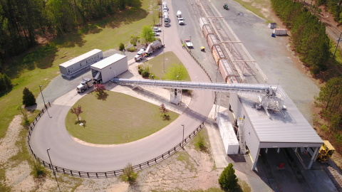 Atlantic and Western Railway, a subsidiary of Genesee & Wyoming Inc., has opened a Choice Terminal™ bulk transload facility in Sanford, N.C. (Photo: Business Wire)