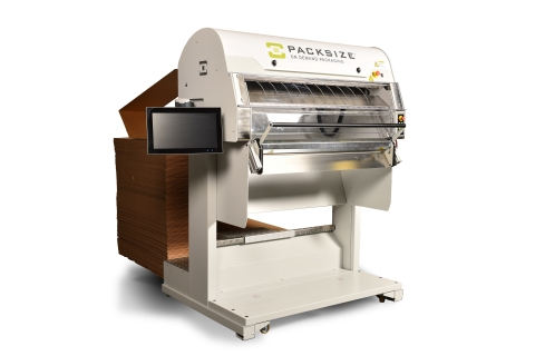 The Packsize iQ3™ custom box-making machine gives retailers with real estate and others struggling to manage the increasing volume of online orders an effective ship-from-store packaging strategy. (Photo: Business Wire)