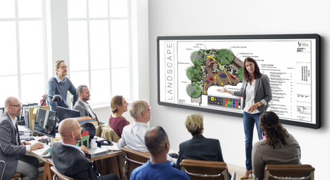 "Leyard and Planar showcase industry's first seamless 196"" LED touch-enabled video wall at InfoComm 2 ..."
