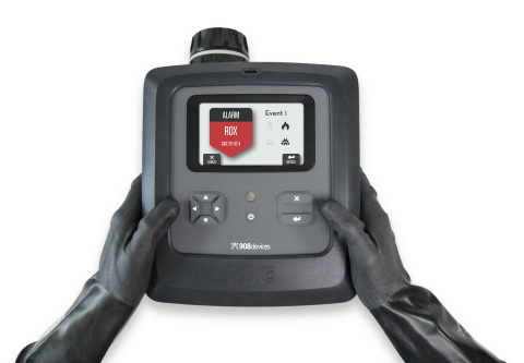 With MX908, elite responders will benefit from unmatched versatility and detection power. The device features an upgraded all hazards target list, which includes a broader spectrum of chemical warfare agents (CWA) as well as explosives and high-priority toxic industrial chemicals (TIC). (Photo: 908 Devices)