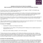 KKR Real Estate Finance Trust Inc. First Quarter 2017 Results