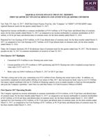 KKR Real Estate Finance Trust Inc. First Quarter 2017 Results
