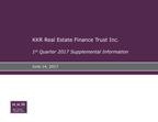 KKR Real Estate Finance Trust Inc. Supplemental Information for the Quarter Ended March 31, 2017