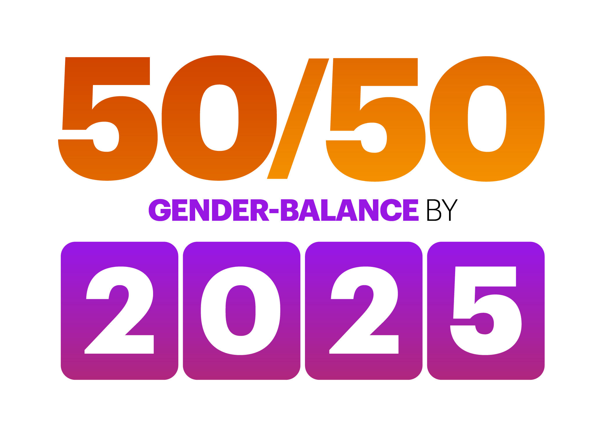 Accenture will achieve a gender-balanced workforce, with 50 percent women and 50 percent men, by 2025. (Graphic: Business Wire)