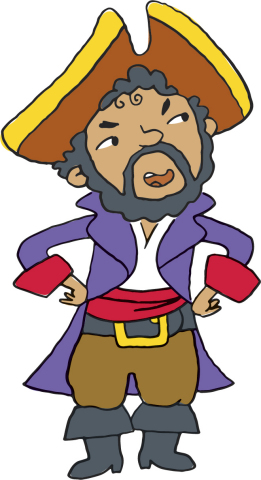 Blackbeard, one of the characters featured in the $martPath financial education curriculum in Ohio,  ...