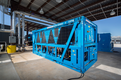Aggreko's new 230ton air-cooled screw chiller (Photo: Business Wire)