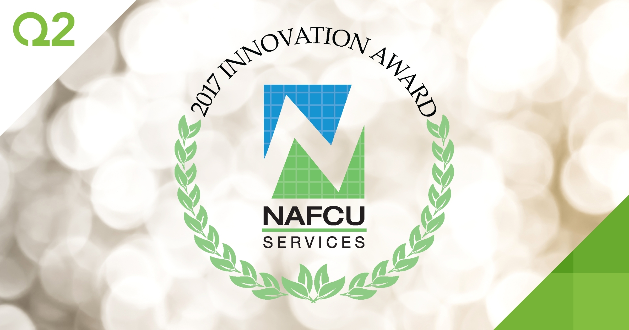 NAFCU Services awarded Q2 with an Innovation Award for Q2 SMART during the NAFCU Annual Conference in Honolulu.(Graphic: Business Wire)