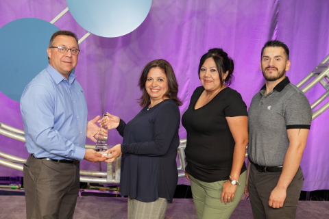 Representatives from the Socorro Independent School District, Texas, accept their Excellence Award at Tyler Connect. (Photo: Business Wire)