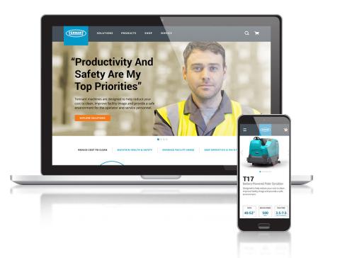Tennantco.com - A redesigned digital experience (Photo: Business Wire).