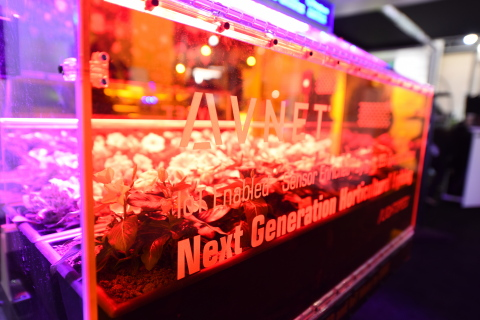 Avnet IoT Greenhouse model featuring MOONS' LED drivers on display at 2017 LIGHTFAIR® International show. (Photo: Business Wire)