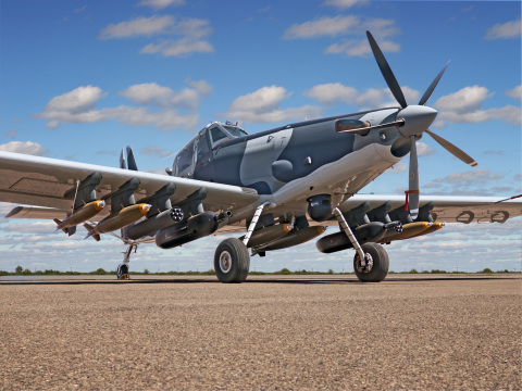 L3's AT-802L Longsword™ features an enhanced, certified cockpit which includes the Garmin G600 system including dual screen Primary/Multi-Function displays, an air data computer and attitude/heading reference system, a digital intercommunication system, and an L3 next-generation Electronic Standby Instrument System. (Photo:Business Wire)
