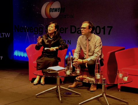Sophia Tsao, Newegg and Jack Porteous, China-Britain Business Council, discuss cross-border e-commer ...