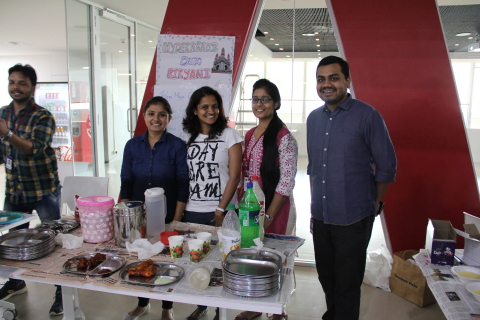 Wells Fargo team members in Bengaluru India raises funds during Fundraising Week for a social cause (Photo: Business Wire)