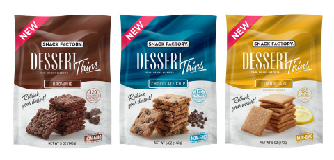 Snack Factory® Dessert Thins (Photo: Business Wire)