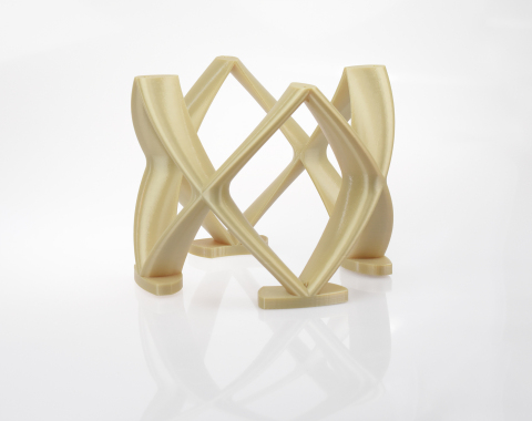 Organic, light-weight designs, such as this camera mounting bracket, can be achieved with the design freedom offered by FDM-based 3D printing on the Stratasys 900mc Production 3D Printer (Photo: Business Wire)