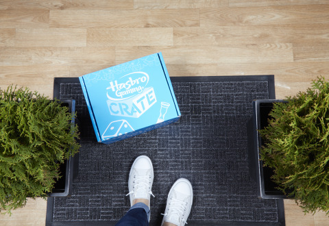 Hasbro Gaming Crate delivers an exclusive collection of games directly to consumer's doorstep (Photo: Business Wire)