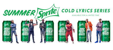 This summer Sprite® is helping fans stay cool and refreshed with the new Summer Sprite™ Cold Lyrics Series™. Limited-edition Sprite cans and bottles will feature six cold-inspired lyrics from six of the hottest rappers in the game – Vince Staples, Lil Yachty, DRAM, Vic Mensa, Kamaiyah and Kap G. (Photo: Business Wire)