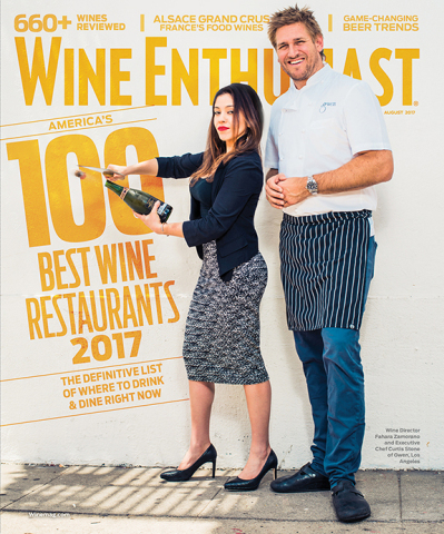 Wine Enthusiast's 100 Best Wine Restaurants of 2017 August Issue Cover (Photo: Business Wire)