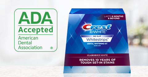 The American Dental Association (ADA) today announced the Crest 3D White Glamorous White Whitestrips ...