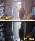 Axis Forensic WDR technology enables surveillance operators to see forensic details in scenes. The above image shows how an image would look with and without Forensic WDR. (Photo: Business Wire)