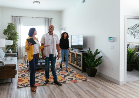 Property managers can offer smart home technology to their residents. (Photo: Business Wire)