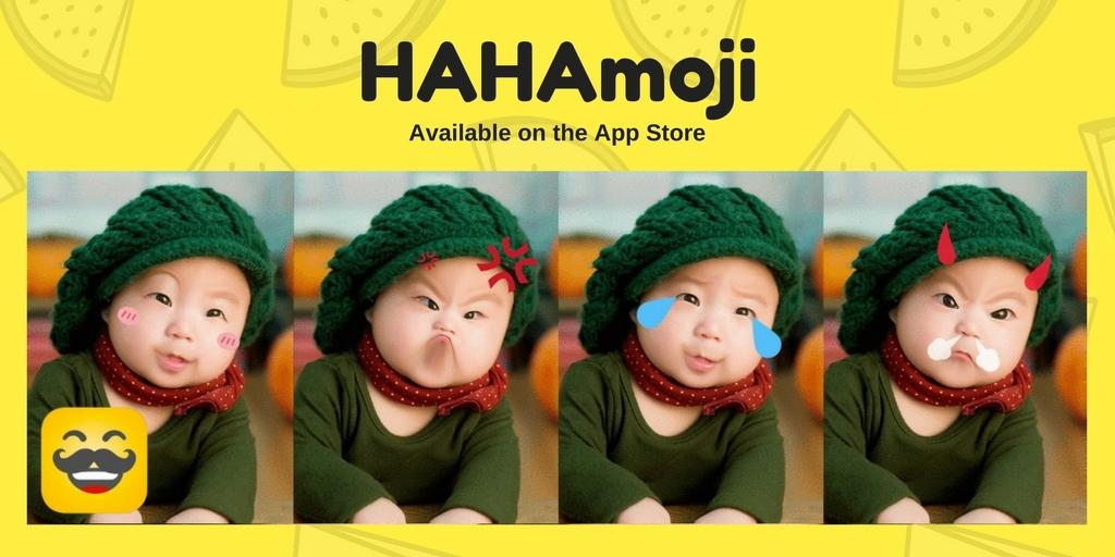 HAHAmoji uses Baidu's AI technology to add expressions to photos (Photo: Business Wire)