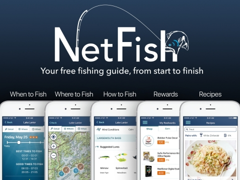 ReelSonar Releases New Fishing App, NetFish – Forever Changes the Sport of Fishing (Graphic: Business Wire)