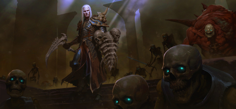 The much-anticipated necromancer is a dark summoner who controls an army of the dead. (Graphic: Busi ...