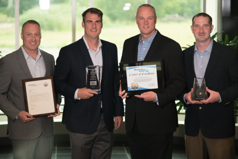 Gateway Mortgage Group executives from left to right: Earl Dunham - Director of Customer Care, Kevin Stitt - CEO, Mike Goyer - COO, Adam Barker - VP of Loan Servicing (Photo: Business Wire)