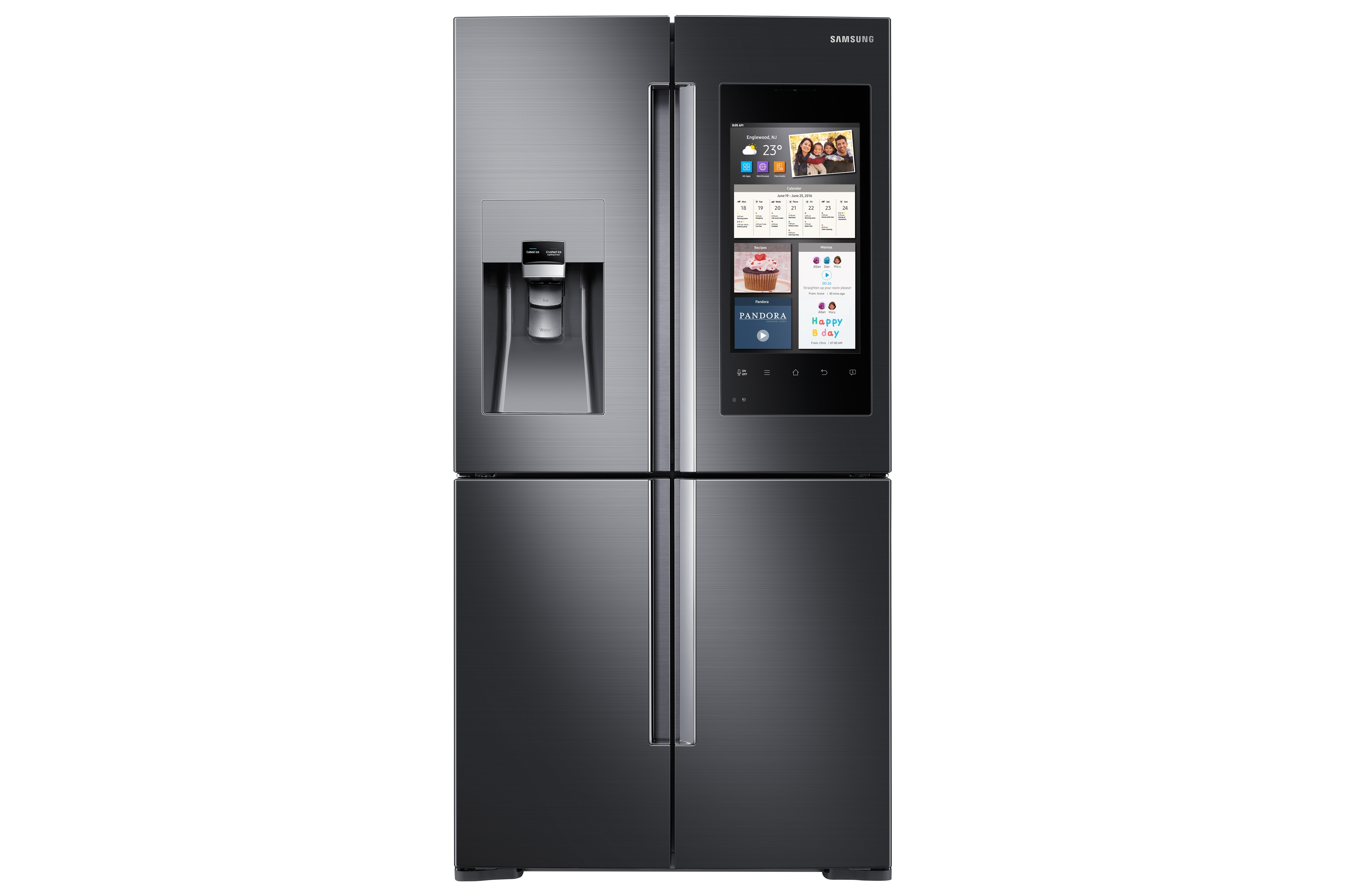 samsung empowers life in the kitchen with family hub refrigerator business wire. Black Bedroom Furniture Sets. Home Design Ideas
