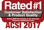 Papa John's celebrates #1 ranking among QSR pizza chains in annual American Customer Satisfaction Index (ACSI) report for 16th time in 18 years (Graphic: Business Wire)