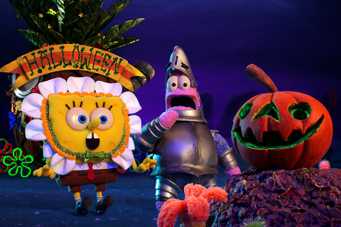 "(L-R) SpongeBob and Patrick in Nickelodeon's Halloween Stop-Motion Special, ""SpongeBob SquarePants:  ..."