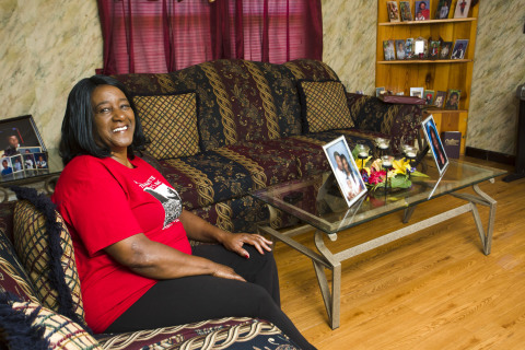 Darlene Harper received nearly $6,000 in Special Needs Assistance Program funds from FBT Bank and Mortgage and FHLB Dallas to repair the back door of her home and her bathroom floor. (Photo: Business Wire)