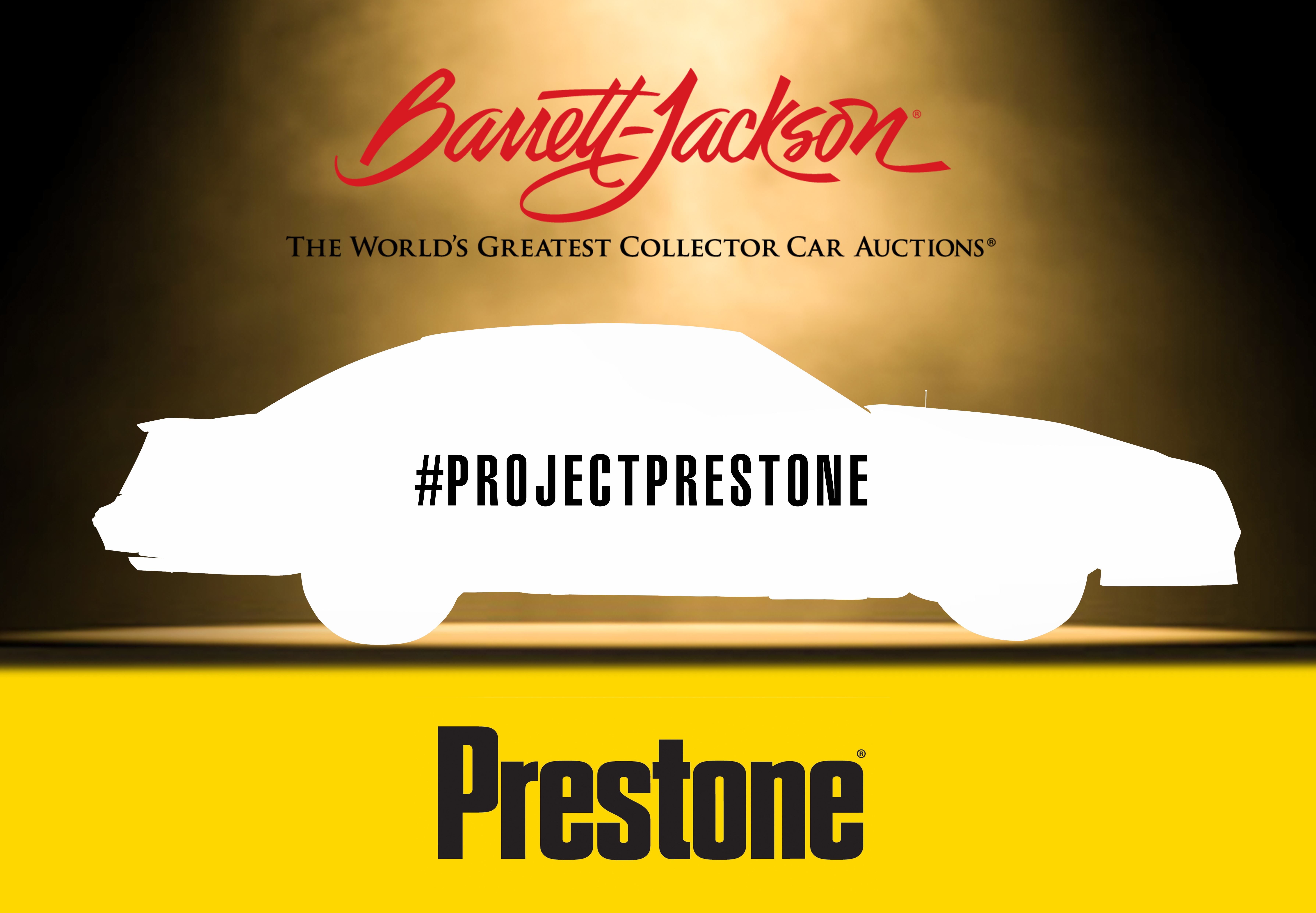 Barrett-Jackson and Prestone will unveil a vehicle and make a special announcement at Barrett-Jackson's 2017 Northeast Auction, June 22, 2017 at 1:30 PM. (Graphic: Business Wire)
