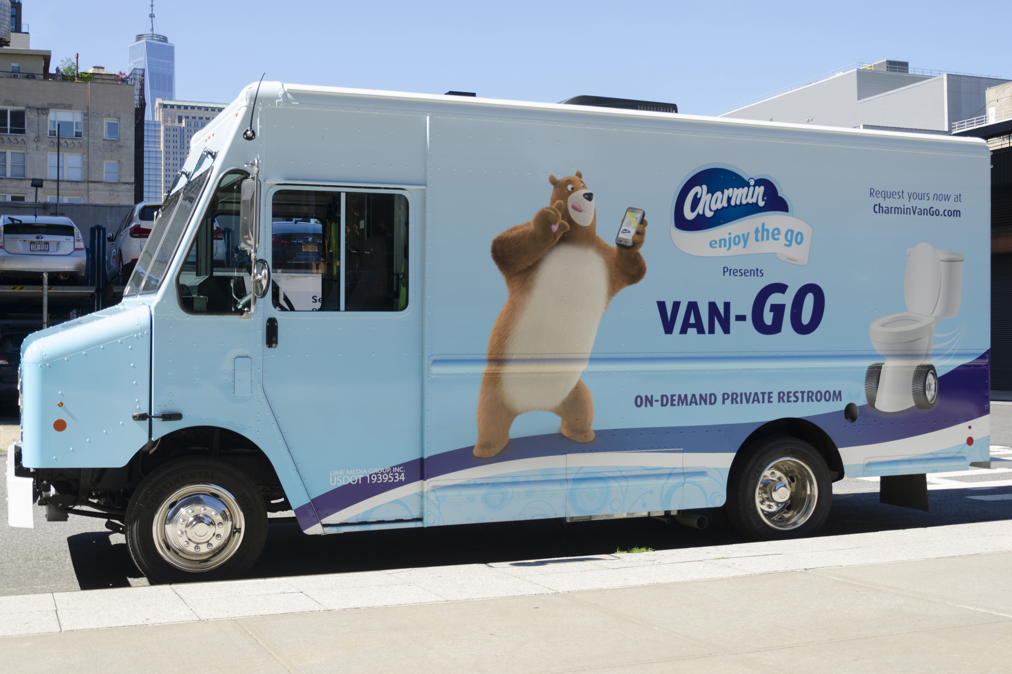 Charmin Van-GO will roll through New York City June 21 and June 22. (Photo: Business Wire)