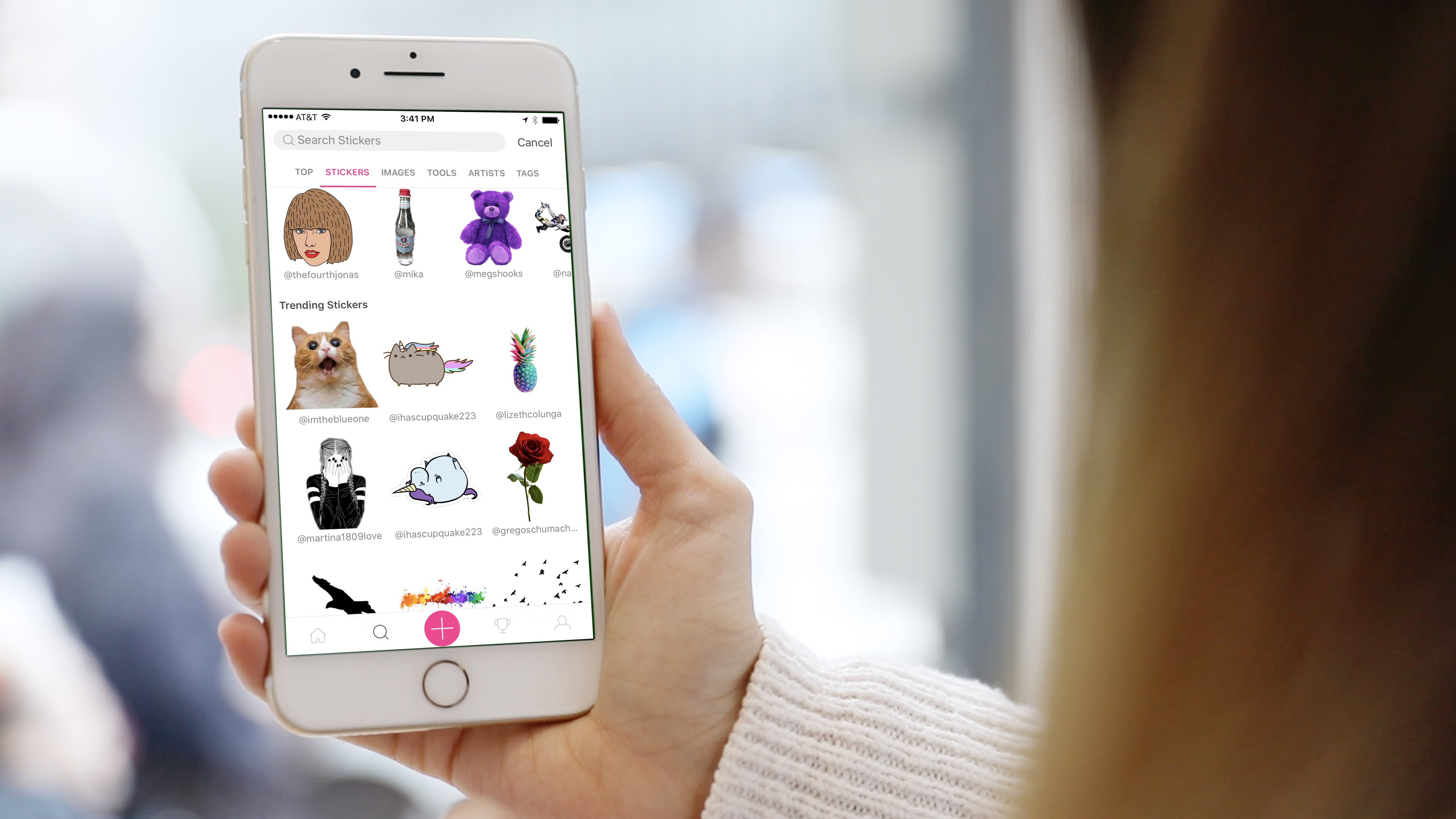 PicsArt has over 1 million free Community Stickers (Photo: Business Wire)