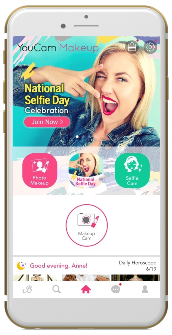 Join YouCam in celebrating National Selfie Day by sharing your best shot and tagging #YouCamSelfie on social media . (Photo: Business Wire)