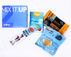 JetBlue's new MixItUp Box: For those craving a little bit of everything, this box offers something sweet, something savory and everything in between with a KIND® granola bar, ranch crackers, a Field Trip® turkey stick and fruit snacks. (Photo: Business Wire)