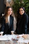 Designer, Monique Lhuillier and Potter Barn EVP of Product Development and Design, Monica Bhargava (Photo: Business Wire)